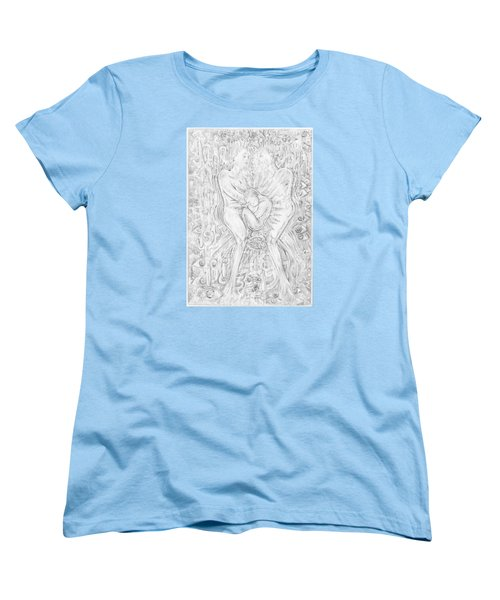 Women's T-Shirt (Standard Cut) featuring the mixed media Life Series 5 by Giovanni Caputo