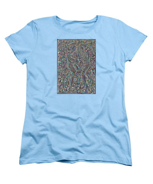 Women's T-Shirt (Standard Cut) featuring the mixed media Life Series 7 by Giovanni Caputo