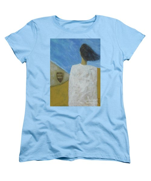 Women's T-Shirt (Standard Cut) featuring the painting Lifeboat by Glenn Quist