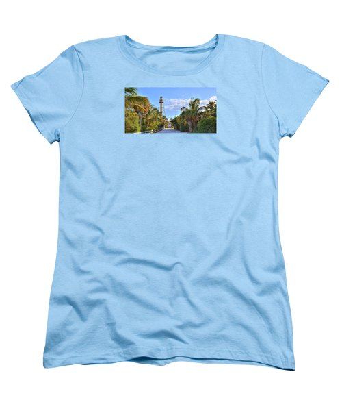 Light At The End Of The Road Women's T-Shirt (Standard Cut) by Sean Allen