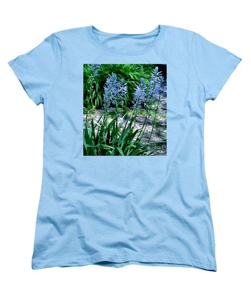 Light Blue Lace Women's T-Shirt (Standard Cut) by Marsha Heiken