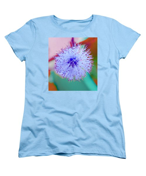 Light Blue Puff Explosion Women's T-Shirt (Standard Cut) by Samantha Thome