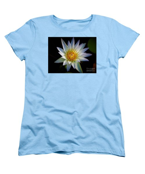 Women's T-Shirt (Standard Cut) featuring the photograph Light Blue Water Lily by Chad and Stacey Hall