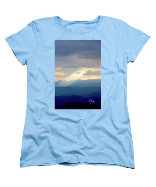 Light Ray Sunset Women's T-Shirt (Standard Cut) by Meta Gatschenberger