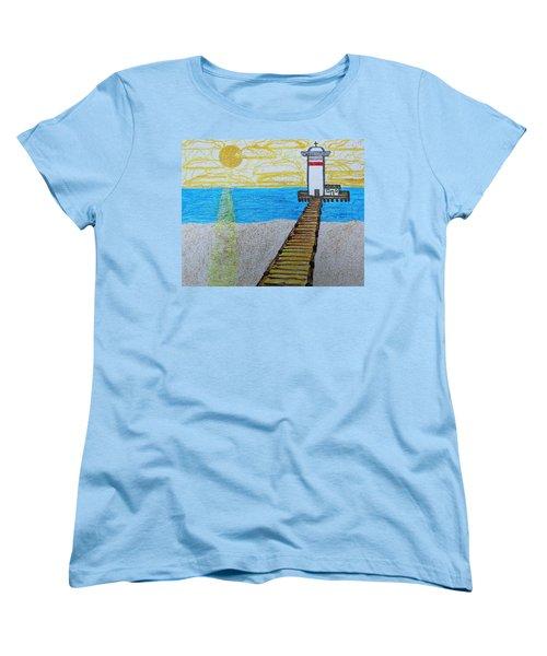 Lighthouse And Yellow Sun Women's T-Shirt (Standard Cut)