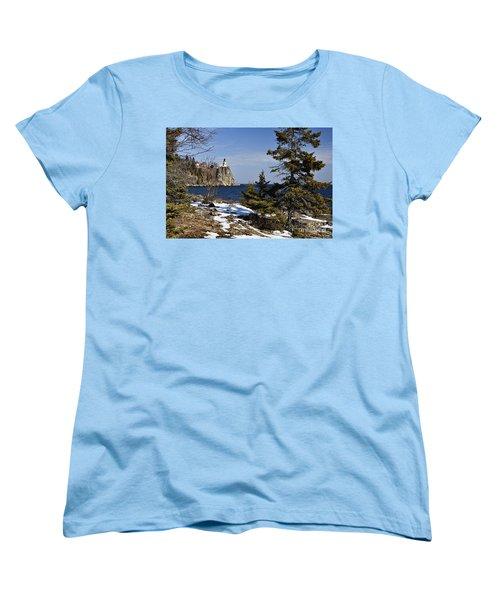 Women's T-Shirt (Standard Cut) featuring the photograph Lighthouse Framed by Larry Ricker