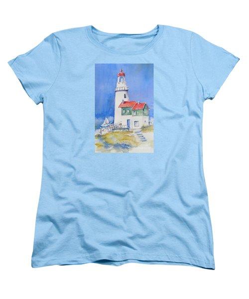 Lighthouse Women's T-Shirt (Standard Cut) by Mary Haley-Rocks
