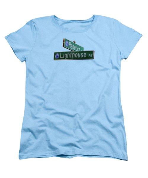 Lighthouse Road Women's T-Shirt (Standard Cut) by Brian MacLean