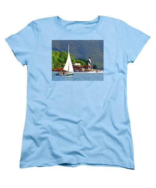 Lighthouse Sailors Smith Mountain Lake Women's T-Shirt (Standard Cut) by The American Shutterbug Society