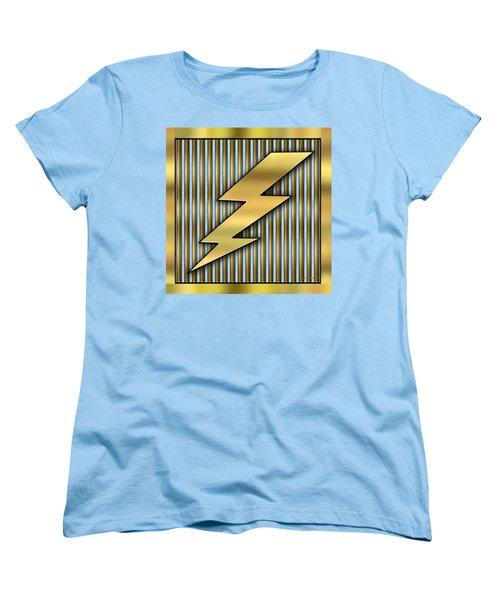 Lightning Bolt Women's T-Shirt (Standard Cut) by Chuck Staley