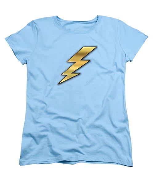 Women's T-Shirt (Standard Cut) featuring the digital art Lightning Transparent by Chuck Staley