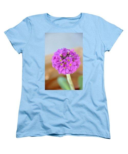 Women's T-Shirt (Standard Cut) featuring the photograph Single Pink Flower by Marion McCristall