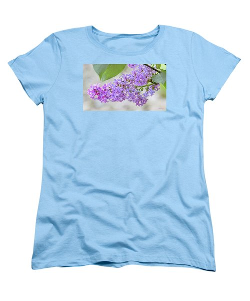 Lilac Cluster Women's T-Shirt (Standard Cut) by Skip Tribby