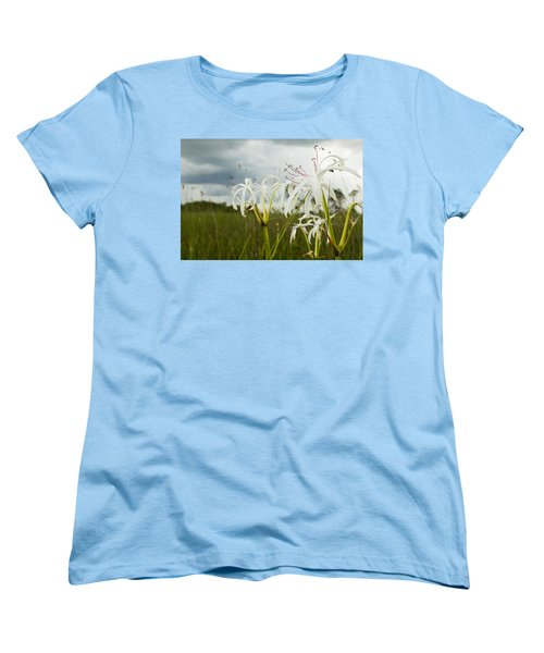 Lilies Thunder Women's T-Shirt (Standard Cut) by Christopher L Thomley