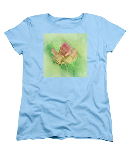 Women's T-Shirt (Standard Cut) featuring the mixed media Lily My Lovely - S112sqc88 by Variance Collections