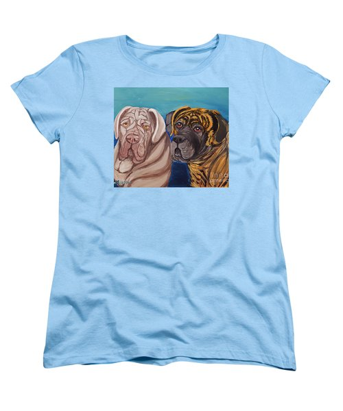 Women's T-Shirt (Standard Cut) featuring the painting Lily Rose Maggie Moo by Ania M Milo
