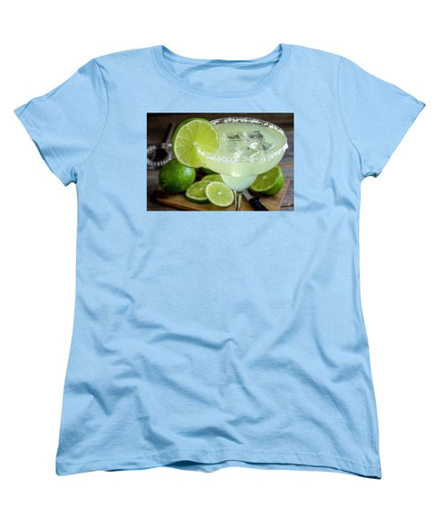 Women's T-Shirt (Standard Cut) featuring the photograph Lime Margarita Drink by Teri Virbickis