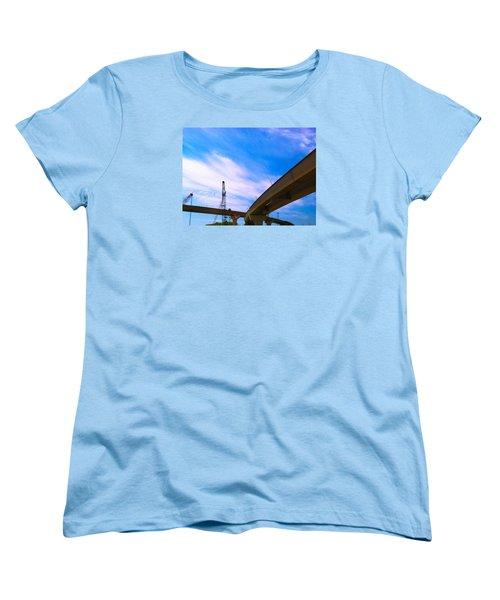 Women's T-Shirt (Standard Cut) featuring the photograph Lineing The Sky by Jamie Lynn
