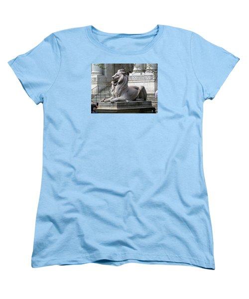 Women's T-Shirt (Standard Cut) featuring the photograph Lion Guards Literature by Helen Haw