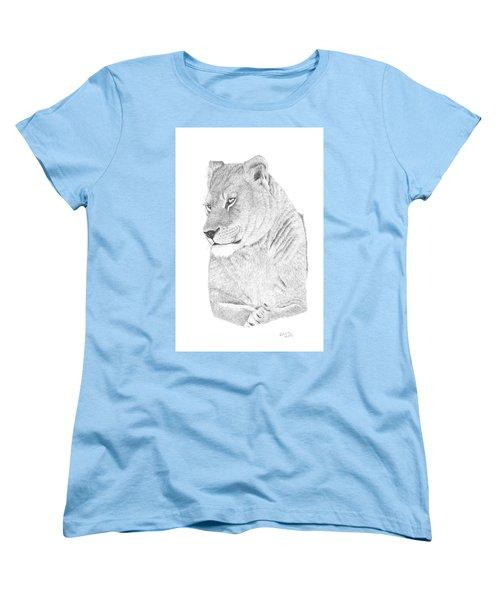 Lioness Women's T-Shirt (Standard Cut) by Patricia Hiltz