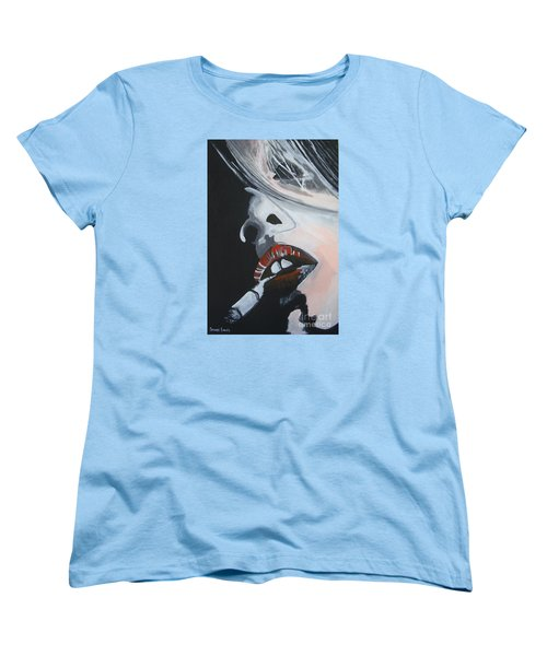 Women's T-Shirt (Standard Cut) featuring the painting Lips Like Cherries by Stuart Engel
