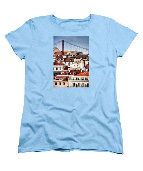 Lisbon Rooftops Women's T-Shirt (Standard Cut) by Dennis Cox WorldViews