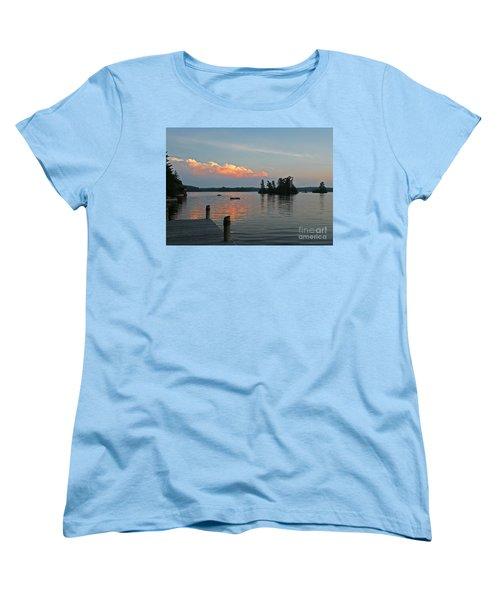 Little Bald Lake Women's T-Shirt (Standard Cut) by Barbara McMahon