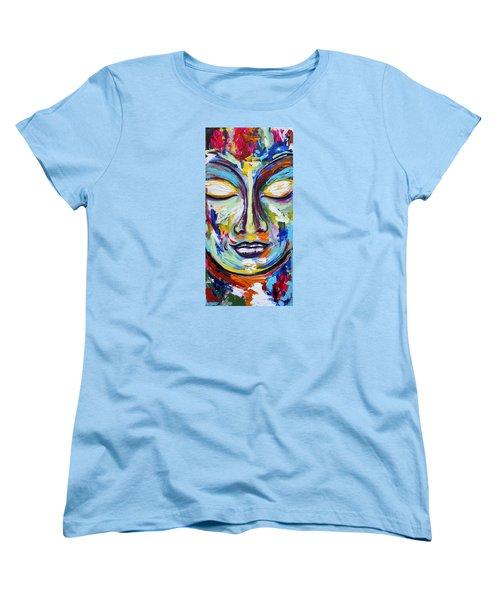 Little Buddha Women's T-Shirt (Standard Cut) by Theresa Marie Johnson