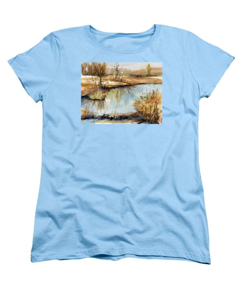 Little Dam Women's T-Shirt (Standard Cut) by Judith Levins