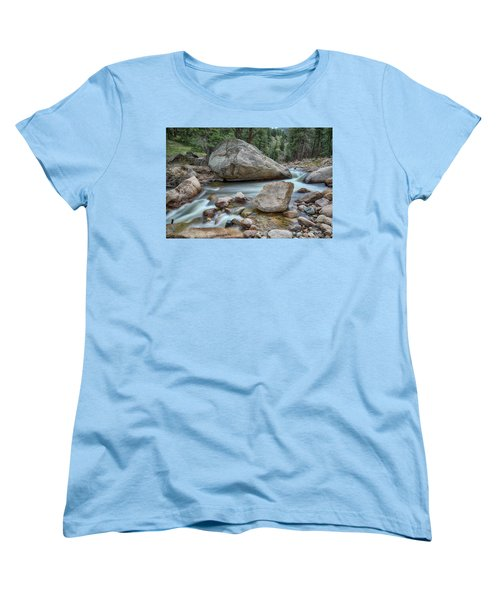 Women's T-Shirt (Standard Cut) featuring the photograph Little Pine Tree Stream View by James BO Insogna