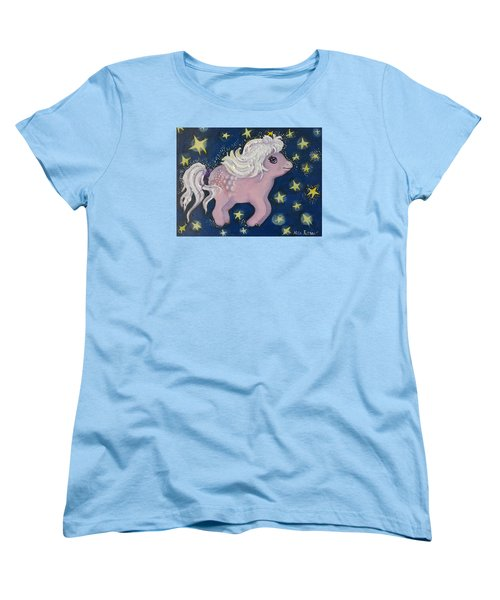 Little Pink Horse Women's T-Shirt (Standard Cut) by Rita Fetisov