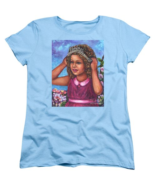 Women's T-Shirt (Standard Cut) featuring the painting Little Princess by Alga Washington