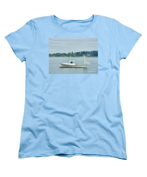 Lobster Boat Harpswell Maine Women's T-Shirt (Standard Cut) by Patrick Fennell