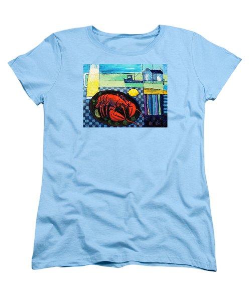 Lobster Women's T-Shirt (Standard Cut) by Mikhail Zarovny