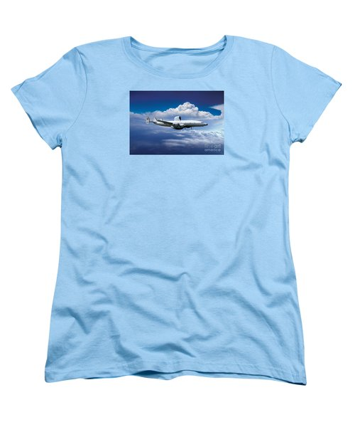 Willie Victor, Lockheed Ec-121k Warning Star In Flight Women's T-Shirt (Standard Cut) by Wernher Krutein