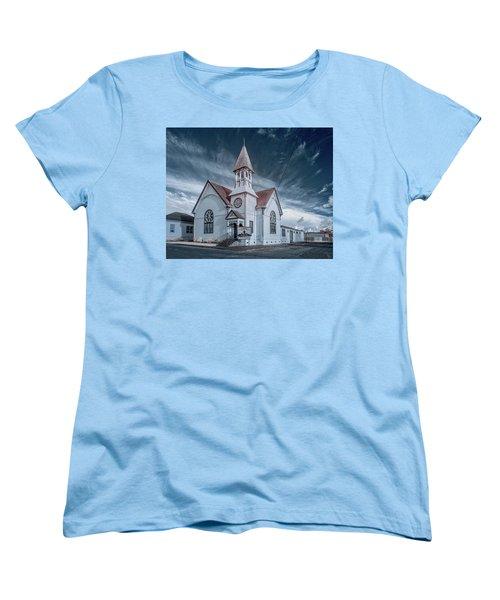 Women's T-Shirt (Standard Cut) featuring the photograph Loleta Church by Greg Nyquist