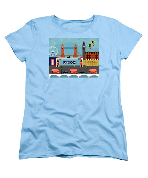 London England Horizontal Scene - Collage Women's T-Shirt (Standard Cut)