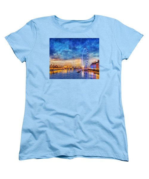 Women's T-Shirt (Standard Cut) featuring the photograph London Eye by Ian Mitchell