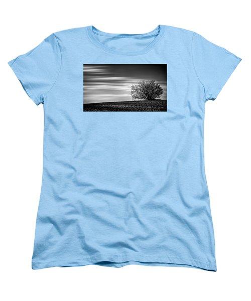 Women's T-Shirt (Standard Cut) featuring the photograph Lone Tree by Dan Jurak