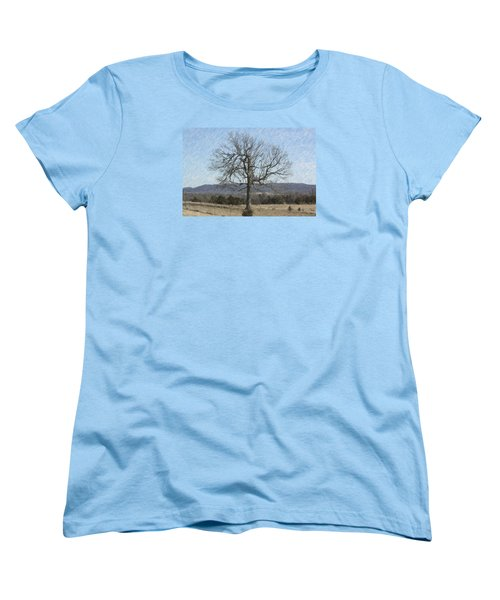 Lone Tree Women's T-Shirt (Standard Cut) by Donna G Smith