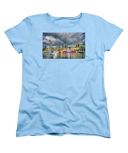 Long Beach Shoreline Marina Women's T-Shirt (Standard Cut) by Joseph Hollingsworth