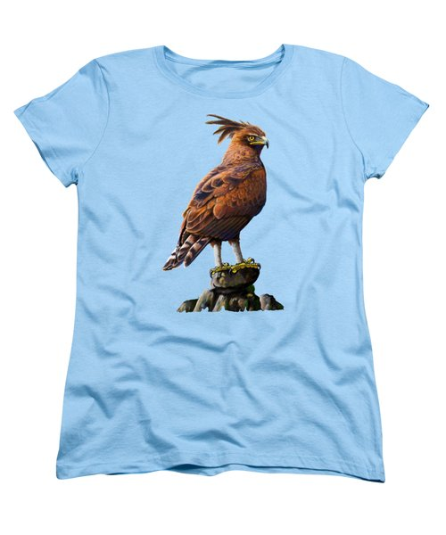 Long Crested Eagle Women's T-Shirt (Standard Cut) by Anthony Mwangi