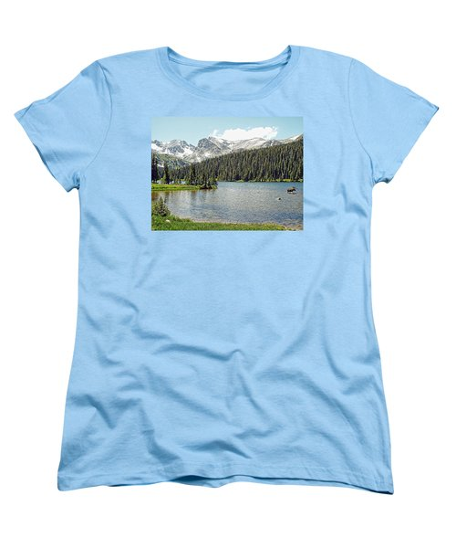 Women's T-Shirt (Standard Cut) featuring the photograph Long Lake Splender by Joseph Hendrix
