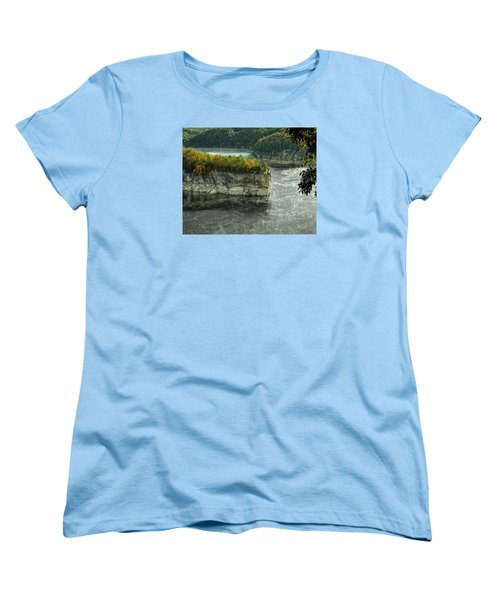 Long Point Clff Women's T-Shirt (Standard Cut) by Mark Allen