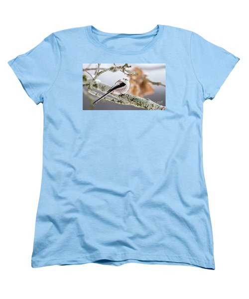 Women's T-Shirt (Standard Cut) featuring the photograph Long-tailed Tit by Torbjorn Swenelius