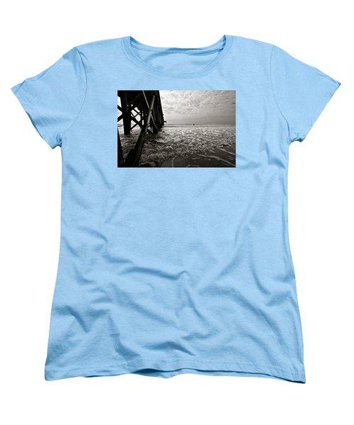 Women's T-Shirt (Standard Cut) featuring the photograph Long To Surf by David Sutton