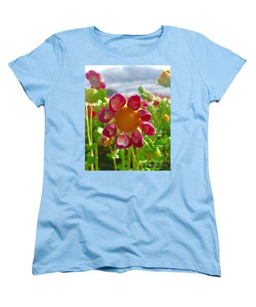 Look At Me Dahlia Women's T-Shirt (Standard Cut) by Susan Garren