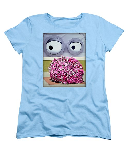 Women's T-Shirt (Standard Cut) featuring the photograph Look At Those Flowers by AJ Schibig