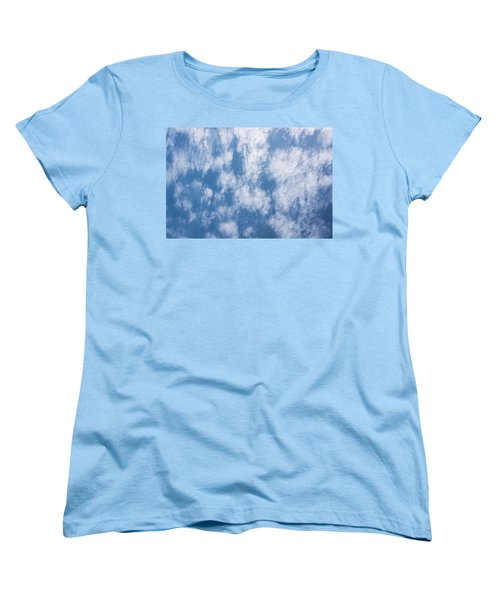 Look Up Not Down Clouds Women's T-Shirt (Standard Cut) by Terry DeLuco