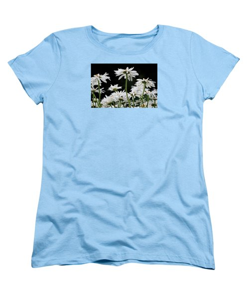 Looking Up At At Daisies Women's T-Shirt (Standard Cut) by Dorothy Cunningham